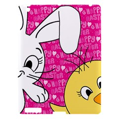 Easter Bunny And Chick  Apple Ipad 3/4 Hardshell Case by Valentinaart