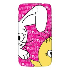 Easter Bunny And Chick  Samsung Galaxy Mega I9200 Hardshell Back Case by Valentinaart