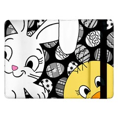 Easter Bunny And Chick  Samsung Galaxy Tab Pro 12 2  Flip Case by Valentinaart