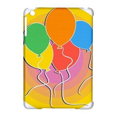 Birthday Party Balloons Colourful Cartoon Illustration Of A Bunch Of Party Balloon Apple Ipad Mini Hardshell Case (compatible With Smart Cover) by Nexatart