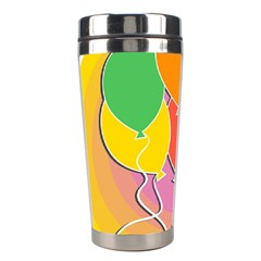Birthday Party Balloons Colourful Cartoon Illustration Of A Bunch Of Party Balloon Stainless Steel Travel Tumblers by Nexatart