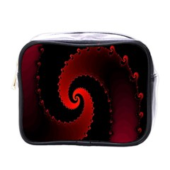Red Fractal Spiral Mini Toiletries Bags by Nexatart