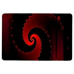 Red Fractal Spiral Ipad Air 2 Flip by Nexatart