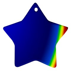 Blue Wallpaper With Rainbow Ornament (star) by Nexatart