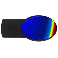 Blue Wallpaper With Rainbow Usb Flash Drive Oval (4 Gb) by Nexatart