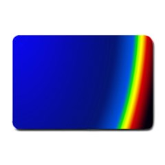 Blue Wallpaper With Rainbow Small Doormat  by Nexatart