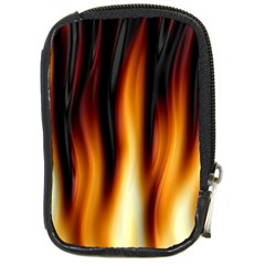 Dark Flame Pattern Compact Camera Cases by Nexatart