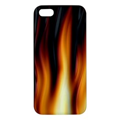 Dark Flame Pattern Iphone 5s/ Se Premium Hardshell Case