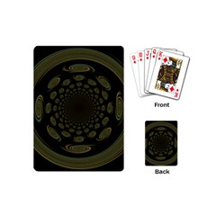 Dark Portal Fractal Esque Background Playing Cards (mini)  by Nexatart