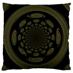 Dark Portal Fractal Esque Background Large Flano Cushion Case (one Side)