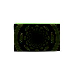Dark Portal Fractal Esque Background Cosmetic Bag (xs) by Nexatart