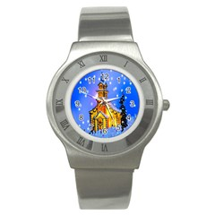 Winter Church Stainless Steel Watch