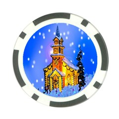 Winter Church Poker Chip Card Guard (10 Pack) by Nexatart