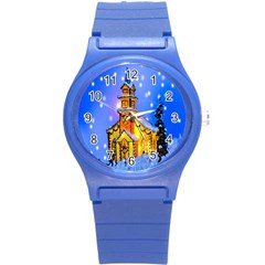 Winter Church Round Plastic Sport Watch (s)