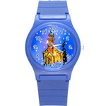 Winter Church Round Plastic Sport Watch (S) Front