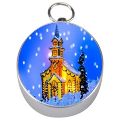 Winter Church Silver Compasses by Nexatart