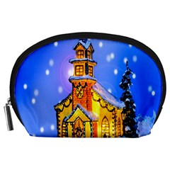 Winter Church Accessory Pouches (large)  by Nexatart
