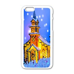 Winter Church Apple Iphone 6/6s White Enamel Case by Nexatart
