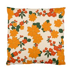 Vintage Floral Wallpaper Background In Shades Of Orange Standard Cushion Case (two Sides) by Nexatart