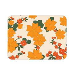 Vintage Floral Wallpaper Background In Shades Of Orange Double Sided Flano Blanket (mini)  by Nexatart