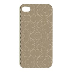 Abstract Background With Floral Orn Illustration Background With Swirls Apple Iphone 4/4s Premium Hardshell Case