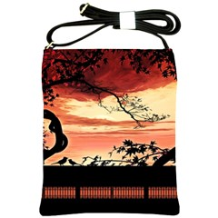 Autumn Song Autumn Spreading Its Wings All Around Shoulder Sling Bags by Nexatart