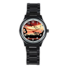 Autumn Song Autumn Spreading Its Wings All Around Stainless Steel Round Watch by Nexatart