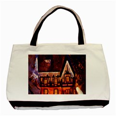 House In Winter Decoration Basic Tote Bag by Nexatart