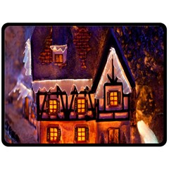 House In Winter Decoration Fleece Blanket (large)  by Nexatart