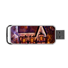 House In Winter Decoration Portable Usb Flash (two Sides) by Nexatart