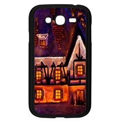 House In Winter Decoration Samsung Galaxy Grand Duos I9082 Case (black)
