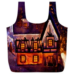 House In Winter Decoration Full Print Recycle Bags (l)  by Nexatart