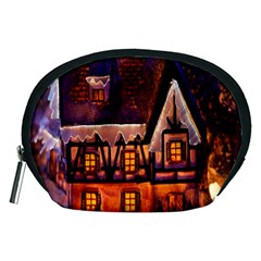 House In Winter Decoration Accessory Pouches (medium)  by Nexatart