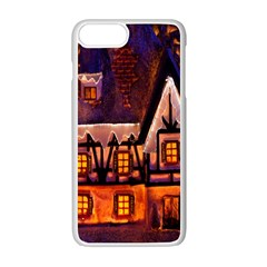 House In Winter Decoration Apple Iphone 7 Plus White Seamless Case by Nexatart