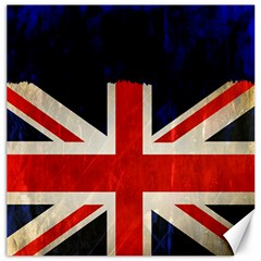 Flag Of Britain Grunge Union Jack Flag Background Canvas 16  X 16   by Nexatart