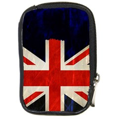 Flag Of Britain Grunge Union Jack Flag Background Compact Camera Cases by Nexatart