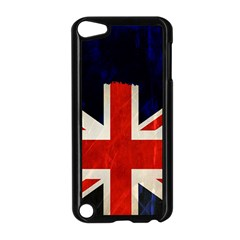 Flag Of Britain Grunge Union Jack Flag Background Apple Ipod Touch 5 Case (black) by Nexatart