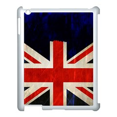 Flag Of Britain Grunge Union Jack Flag Background Apple Ipad 3/4 Case (white) by Nexatart