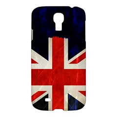 Flag Of Britain Grunge Union Jack Flag Background Samsung Galaxy S4 I9500/i9505 Hardshell Case by Nexatart
