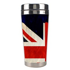 Flag Of Britain Grunge Union Jack Flag Background Stainless Steel Travel Tumblers by Nexatart