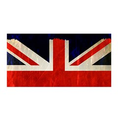 Flag Of Britain Grunge Union Jack Flag Background Satin Wrap