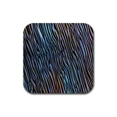Abstract Background Wallpaper Rubber Square Coaster (4 Pack)