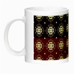 Decorative Pattern With Flowers Digital Computer Graphic Night Luminous Mugs by Nexatart