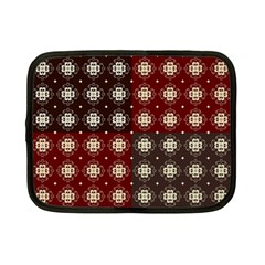 Decorative Pattern With Flowers Digital Computer Graphic Netbook Case (small)  by Nexatart