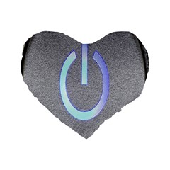 Close Up Of A Power Button Standard 16  Premium Flano Heart Shape Cushions by Nexatart