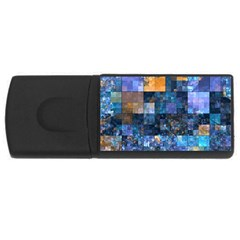 Blue Squares Abstract Background Of Blue And Purple Squares Usb Flash Drive Rectangular (4 Gb) by Nexatart