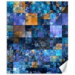 Blue Squares Abstract Background Of Blue And Purple Squares Canvas 20  X 24   by Nexatart