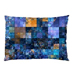 Blue Squares Abstract Background Of Blue And Purple Squares Pillow Case by Nexatart