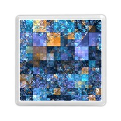 Blue Squares Abstract Background Of Blue And Purple Squares Memory Card Reader (square)  by Nexatart
