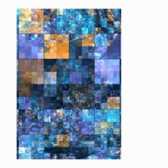Blue Squares Abstract Background Of Blue And Purple Squares Small Garden Flag (two Sides) by Nexatart